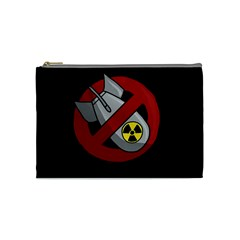No Nuclear Weapons Cosmetic Bag (medium)  by Valentinaart