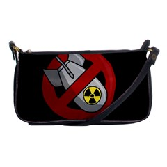 No Nuclear Weapons Shoulder Clutch Bags by Valentinaart
