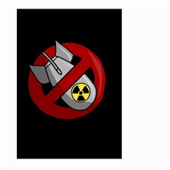 No Nuclear Weapons Large Garden Flag (two Sides) by Valentinaart