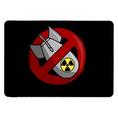 No Nuclear Weapons Samsung Galaxy Tab 8 9  P7300 Flip Case by Valentinaart