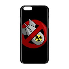 No Nuclear Weapons Apple Iphone 6/6s Black Enamel Case by Valentinaart
