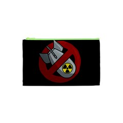 No Nuclear Weapons Cosmetic Bag (xs) by Valentinaart