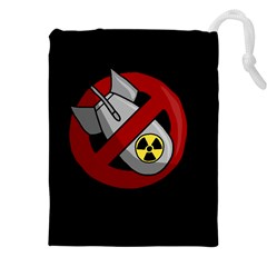 No Nuclear Weapons Drawstring Pouches (xxl)
