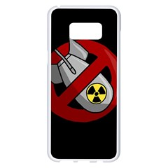 No Nuclear Weapons Samsung Galaxy S8 Plus White Seamless Case by Valentinaart