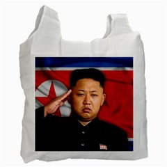 Kim Jong Un Recycle Bag (one Side) by Valentinaart