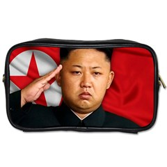 Kim Jong Un Toiletries Bags 2 Side by Valentinaart