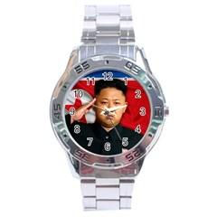 Kim Jong Un Stainless Steel Analogue Watch by Valentinaart