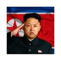Kim Jong Un Acrylic Tangram Puzzle (6  X 6 ) by Valentinaart
