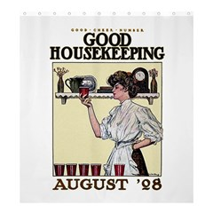 Good Housekeeping Shower Curtain 66  X 72  (large)  by Valentinaart