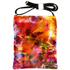 Abstract Acryl Art Shoulder Sling Bags