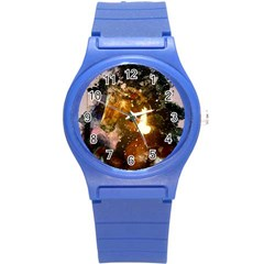 Wonderful Horse In Watercolors Round Plastic Sport Watch (s) by FantasyWorld7