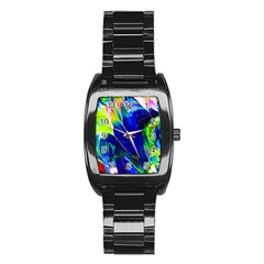 Abstract Acryl Art Stainless Steel Barrel Watch by tarastyle