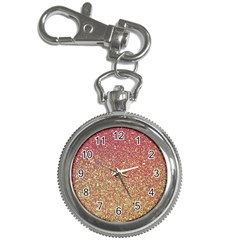Rose Gold Sparkly Glitter Texture Pattern Key Chain Watches by paulaoliveiradesign