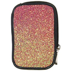 Rose Gold Sparkly Glitter Texture Pattern Compact Camera Cases by paulaoliveiradesign