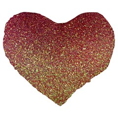 Rose Gold Sparkly Glitter Texture Pattern Large 19  Premium Heart Shape Cushions by paulaoliveiradesign