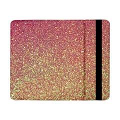 Rose Gold Sparkly Glitter Texture Pattern Samsung Galaxy Tab Pro 8 4  Flip Case
