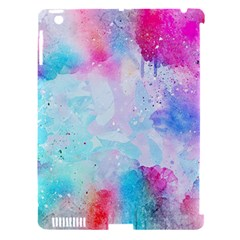 Pink And Purple Galaxy Watercolor Background  Apple Ipad 3/4 Hardshell Case (compatible With Smart Cover) by paulaoliveiradesign