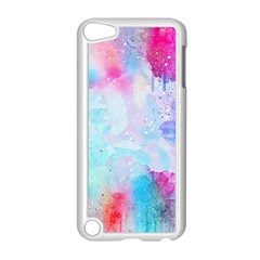 Pink And Purple Galaxy Watercolor Background  Apple Ipod Touch 5 Case (white) by paulaoliveiradesign