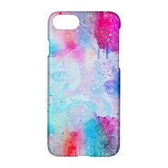 Pink And Purple Galaxy Watercolor Background  Apple Iphone 7 Hardshell Case by paulaoliveiradesign