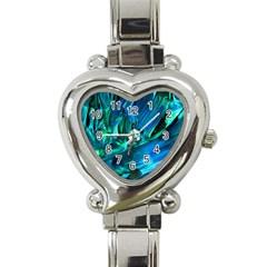 Abstract Acryl Art Heart Italian Charm Watch by tarastyle