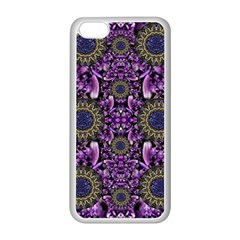 Flowers From Paradise In Fantasy Elegante Apple Iphone 5c Seamless Case (white) by pepitasart