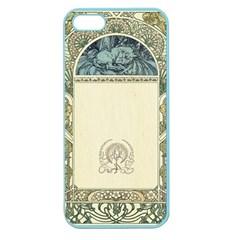 Art Nouveau Apple Seamless Iphone 5 Case (color) by 8fugoso