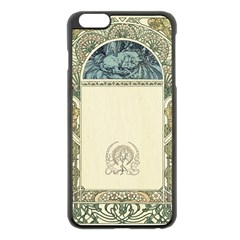 Art Nouveau Apple Iphone 6 Plus/6s Plus Black Enamel Case by 8fugoso