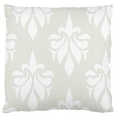 Fleur De Lis Large Flano Cushion Case (one Side) by 8fugoso