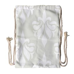 Fleur De Lis Drawstring Bag (large) by 8fugoso
