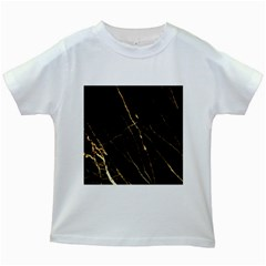 Black Marble Kids White T Shirts by 8fugoso
