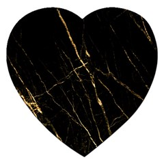 Black Marble Jigsaw Puzzle (heart) by 8fugoso