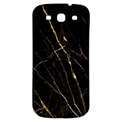 Black Marble Samsung Galaxy S3 S Iii Classic Hardshell Back Case by 8fugoso
