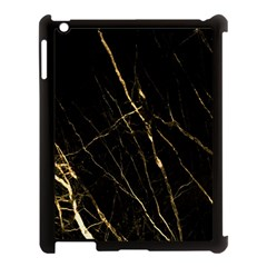 Black Marble Apple Ipad 3/4 Case (black) by 8fugoso