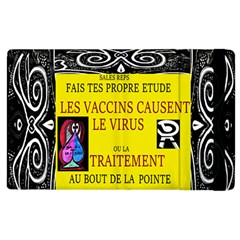 Vaccine  Story Mrtacpans Apple Ipad 2 Flip Case by MRTACPANS