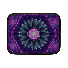 Beautiful Hot Pink And Gray Fractal Anemone Kisses Netbook Case (small)  by jayaprime