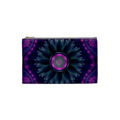 Beautiful Hot Pink And Gray Fractal Anemone Kisses Cosmetic Bag (small)  by beautifulfractals