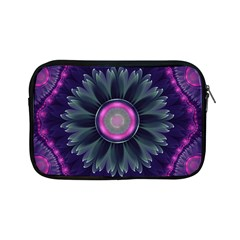 Beautiful Hot Pink And Gray Fractal Anemone Kisses Apple Ipad Mini Zipper Cases by jayaprime
