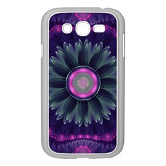 Beautiful Hot Pink And Gray Fractal Anemone Kisses Samsung Galaxy Grand Duos I9082 Case (white) by jayaprime