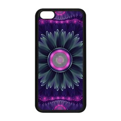 Beautiful Hot Pink And Gray Fractal Anemone Kisses Apple Iphone 5c Seamless Case (black) by jayaprime