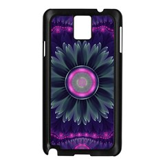 Beautiful Hot Pink And Gray Fractal Anemone Kisses Samsung Galaxy Note 3 N9005 Case (black) by beautifulfractals