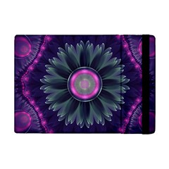Beautiful Hot Pink And Gray Fractal Anemone Kisses Ipad Mini 2 Flip Cases by jayaprime