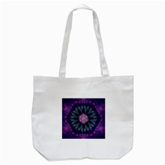 Beautiful Hot Pink And Gray Fractal Anemone Kisses Tote Bag (white) by jayaprime