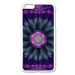 Beautiful Hot Pink And Gray Fractal Anemone Kisses Apple Iphone 6 Plus/6s Plus Enamel White Case by beautifulfractals