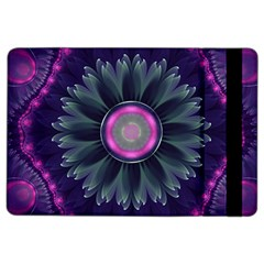 Beautiful Hot Pink And Gray Fractal Anemone Kisses Ipad Air 2 Flip by jayaprime