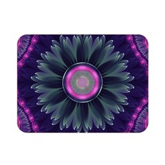 Beautiful Hot Pink And Gray Fractal Anemone Kisses Double Sided Flano Blanket (mini)  by jayaprime