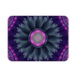 Beautiful Hot Pink And Gray Fractal Anemone Kisses Double Sided Flano Blanket (Mini)  35 x27 Blanket Front