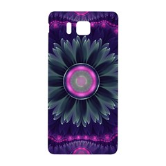 Beautiful Hot Pink And Gray Fractal Anemone Kisses Samsung Galaxy Alpha Hardshell Back Case by jayaprime