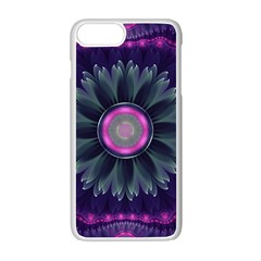 Beautiful Hot Pink And Gray Fractal Anemone Kisses Apple Iphone 7 Plus Seamless Case (white) by jayaprime