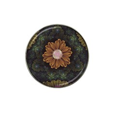Abloom In Autumn Leaves With Faded Fractal Flowers Hat Clip Ball Marker (4 Pack) by beautifulfractals