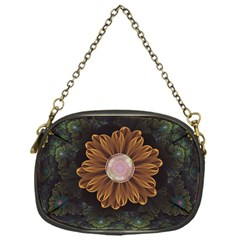 Abloom In Autumn Leaves With Faded Fractal Flowers Chain Purses (one Side)  by jayaprime